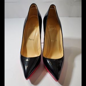 CHRISTIAN LOUBOUTIN Patent Tricolore Heel